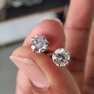3.5 Carat Moissanite Screw Back Earring